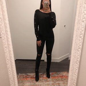 Michael Kors Black Studded Sweater